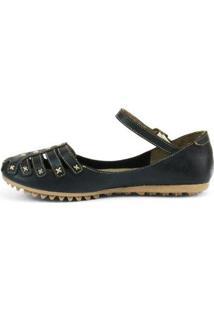 Sapatilha Top Franca Shoes Feminina - Feminino-Preto
