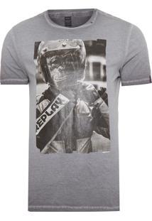 Camiseta Masculina Monkey - Cinza