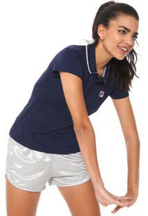 ... Camisa Polo Fila Fusion Azul-Marinho a91c36f1a2d8e