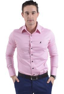 Camisa Social Horus Super Slim Rosa