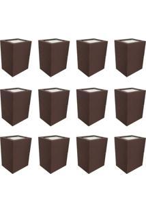 Arandela Premium Marrom Kit Com 12 Casah - Marrom - Dafiti