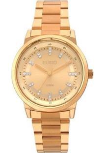 Relógio Feminino Euro Eu2036Ylg/4X 39Mm Pulseira Aço Rosê - Feminino-Dourado
