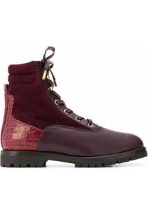 Aquazzura Ankle Boot Com Cadarço - Vermelho