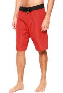 Bermuda Água Calvin Klein Logo Vermelha/Preta
