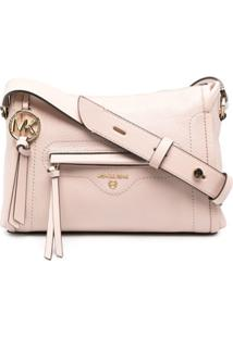 Michael Kors Collection Bolsa Tiracolo Com Placa De Logo - Rosa