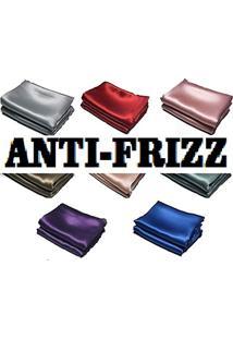 Fronha Cetim, Aspecto De Seda, Anti Frizz, 50X70 Cm (Marrom)