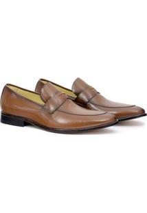 Sapato Social Couro Adolfo Turrion Liso Masculino - Masculino-Marrom