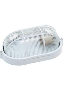 Luminária Biancoluce Tartaruga Branca 21Cm Com Grade Fc3 Luminárias