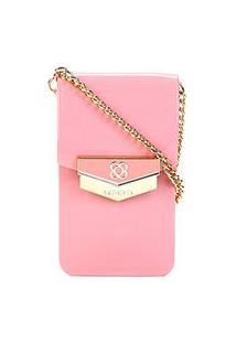 Bolsa Petite Jolie Mini Bag Phone Case Feminina - Feminino-Rosê