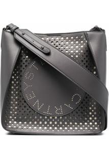 Stella Mccartney Bolsa Transversal Com Logo - Cinza