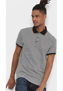 Camisa Polo Colcci Piquet Full Print Masculina - Masculino