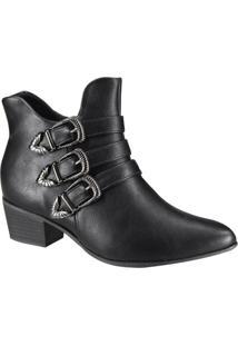 Bota Feminina Ankle Boot Salto Baixo Ramarim 1959104