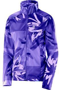Jaqueta Salomon Stop Feminina Flor Azul Spectrum P