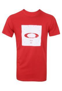Camiseta Oakley Bolded Elipse Tee - Masculina - Vermelho