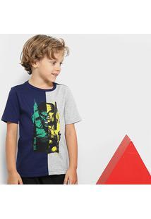 Camiseta Marvel Manga Curta Avengers Masculina - Masculino-Mescla
