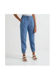 Calça Jogger Jeans Com Cordão