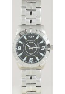 Relógio Analógico Technos Masculino - 2115Kyx1P Prateado - Único