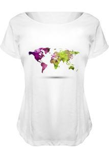 Camiseta Baby Look Nerderia World Branco - Kanui