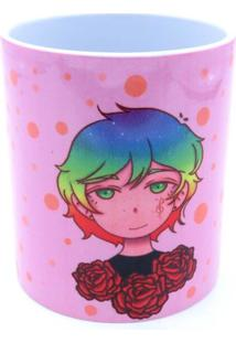Caneca Bad Rose Personagem Autoral - Br1652 - Pink And Rose