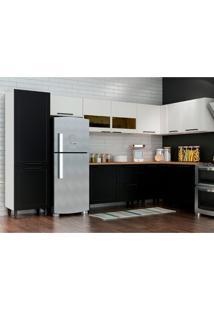 Cozinha Completa Black&White 12 Pt 2 Gv Preta E Branca