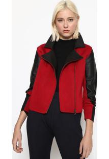 Jaqueta Com Recortes - Vermelha & Pretacalvin Klein