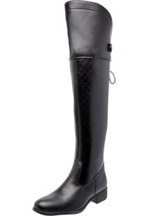 Bota Mega Boots Over The Knee Preto