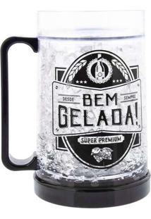 Caneco Gel Stz Congela Cerveja Preto Transparente