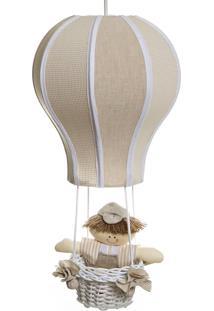 Lustre Balão Cintura Quarto Bebê Infantil Menino Potinho De Mel Bege