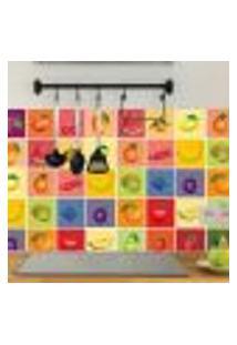 Adesivo De Azulejo Para Cozinha Frutas 20X20Cm 12Un
