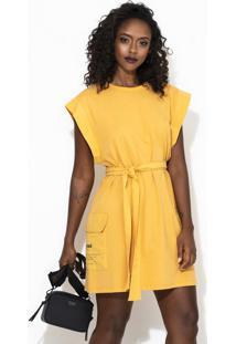 Vestido Curto Colcci Amarelo