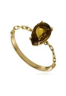 Anel Chain Gota Ouro Amarelo - 17
