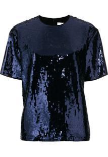 Victoria Victoria Beckham Blusa Com Paetês - Azul