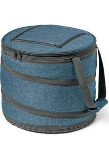 Bolsa Térmica Flexível Round Topget Azul Mesclado - Tricae