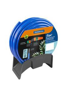 Mangueira Para Jardim Tramontina Flex 79320202 20M Azul Com Suporte