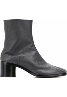 Maison Margiela Ankle Boot Com Detalhe De Abertura Frontal - Cinza