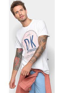 Camiseta Triton Dk Kopenhagen Masculina - Masculino-Branco