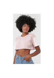 Camiseta Cropped Tricats Forever Rosa