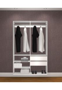Guarda Roupa Casal Sem Portas Modelo Closet Kt1210 Branco - Getama...