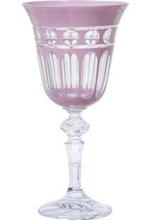 Taça De Cristal Lodz Para Licor De 60 Ml – Rosa