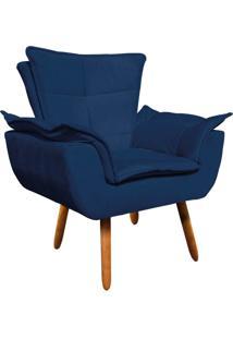 Poltrona Decorativa Opala Suede Azul Marinho - D'Rossi - Azul Marinho - Dafiti