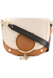 See By Chloé Mara Two-Tone Shoulder Bag - Marrom