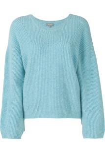 N.Peal Suéter De Tricô - Azul