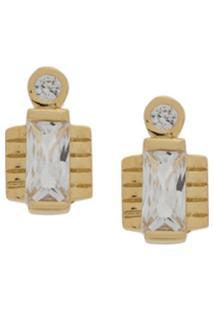 V Jewellery Par De Brincos Jolie Com Tachas - Dourado