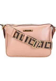 Bolsa Couro Luz Da Lua Mini Bag Transversal Feminina - Feminino-Bege