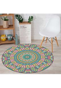 Tapete Love Decor Redondo Wevans Mandala For Multicolorido 94Cm