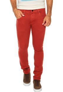 Calça Sarja Rusty Skinny Cos Illusion Vermelha