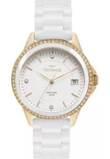 Relógio Feminino Technos 2315Kzs/4B Ceramica - Feminino-Branco