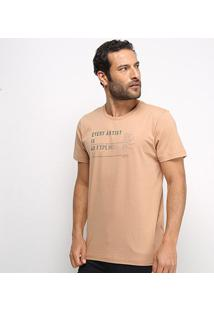 Camiseta Forum Every Artist Masculina - Masculino-Bege