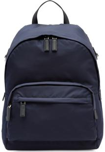 Prada Technical Fabric Backpack - Azul