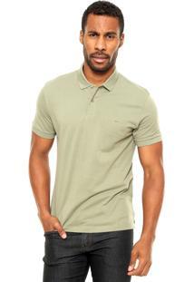Camisa Polo Aramis Manga Curta Estampada Verde
